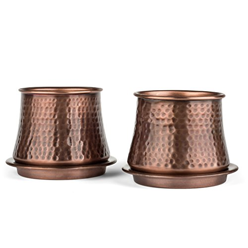 H Potter Planters Succulent Flower Pots Indoor Outdoor Set of Two by H Potter (Image #4)