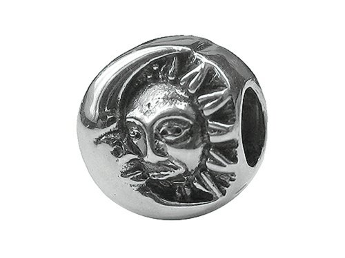 Zable Sterling Silver Sun and Moon Bead/Charm