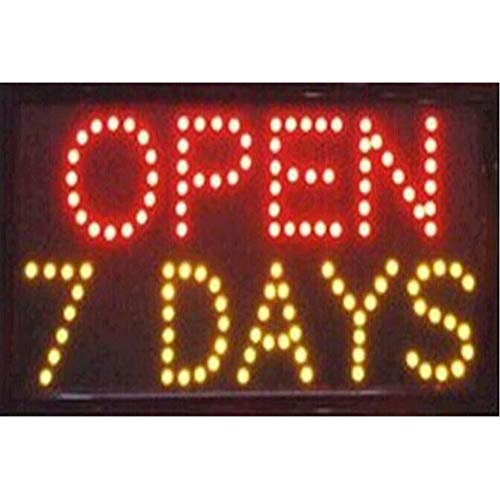 CHENXI Led Open Sign 48X25 CM indoor Ultra Bright shop store sign of led (48 X 25 CM, - Days Open 7 Led