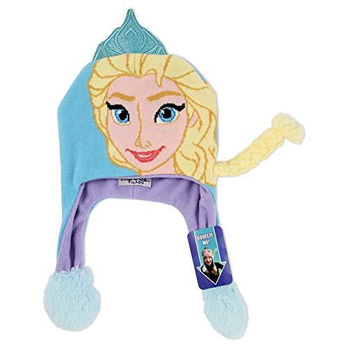 Disney Girls' Little Frozen Elsa Character Squeeze and Flap Fun Cold Weather Hat, Blue\Purple, Age - Elsa Hat