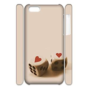 Custom Cover Case with Hard Shell Protection for Iphone 5C 3D case with Perfect love lxa#285773