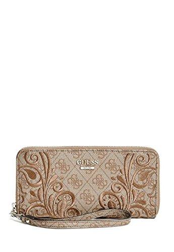 (GUESS Arianna Zip Around Wallet Clutch Bag, Brown)