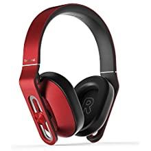 1MORE MK801 Over-Ear Headphones with Apple iOS and Android Compatible Microphone and Remote (Red)
