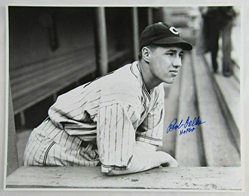 Signed Bob Feller Picture - 11x14 w HOF III - Autographed MLB Photos