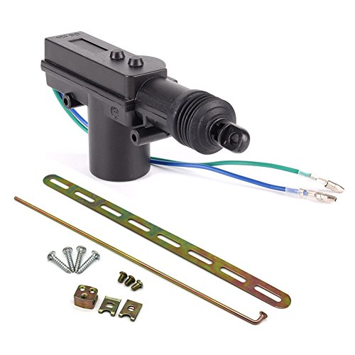 (BEESCLOVER Car Auto Power Door Lock Actuator Motor Professional 2 Wires 12V Auto Locking System Motor Black A0087-01)