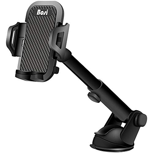 Car Phone Mount, Lovin Product Adjustable Universal Cell Phone Car Holder with Strong Sticky Gel Pad; Dashboard & Windshield Phone Holder for iPhone, Samsung Galaxy, Smartphone (1PACK)