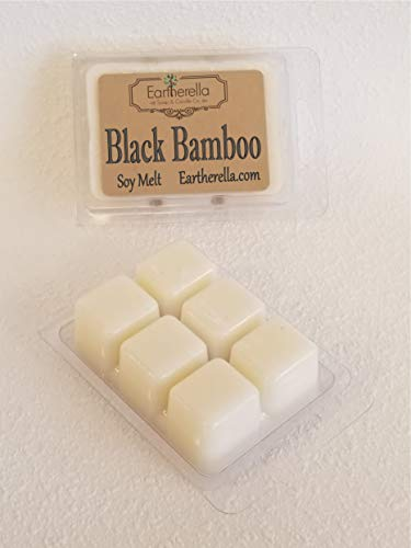 BLACK BAMBOO Natural Soy Wax break-apart tart melts, 2.7 oz, sandalwood,violet, musk, masculine, manly -
