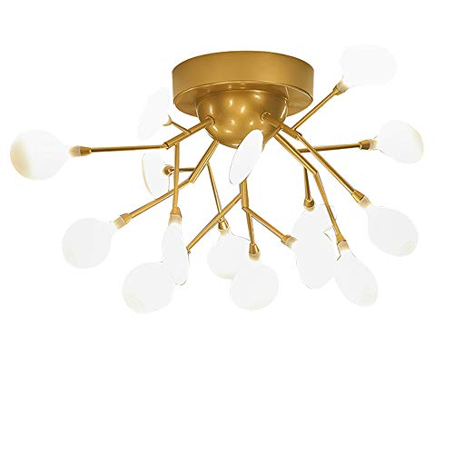 (Sputnik Firefly Chandeliers 15-Light Mid Century Modern Light Semi Flush Mount Ceiling Light Fixtures for Dining Room Kitchen Living Room Foyer and Hallway)