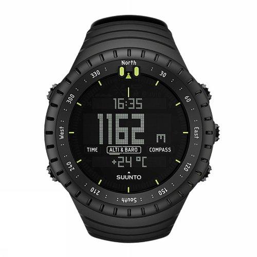 Suunto Men's 48mm Black Rubber Band Polycarbonate Case Quartz Digital Watch SS014279010