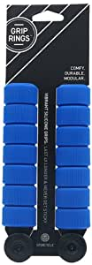 SpurCycle Grip Ring Sets (Pack of 14) with End Plugs, Blue