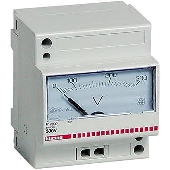 Bticino F1/300 voltímetro comprobador Estabilizador analógica con ...