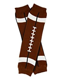 Brown Football Leg Warmers for Baby, Toddler,& Youth by juDanzy