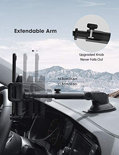 Mpow Car Phone Mount,Washable Strong Sticky Gel Pad with One-Touch Design Dashboard Car Phone Holder for iPhone 8/8Plus/7/7Plus/6s/6Plus/5S, Galaxy S5/S6/S7/S8, Google Nexus, LG, Huawei and More 417bHAoe3CL