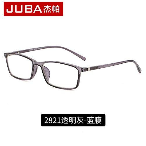 espejo KOMNY gafas azul Film un la Gafas brillante radiación contra protectoras y Blue Blue ordenador Ash gafas film plano Transparent negro r4vvdwx