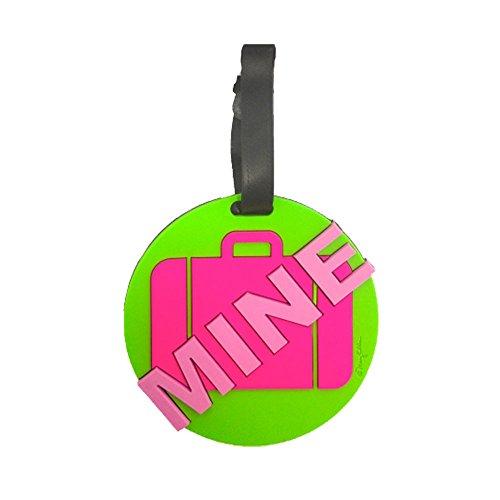 Mine Luggage Tag - Mine Green 3-d Luggage Tag Large Heavy Duty Neon ID Tag