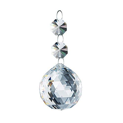 CrystalPlace Lead Free Swarovski Spectra Crystal Clear 30mm Ball Suncatcher Crystal Ornament Austrian Ball Prism Wedding Decoration, Party Decor