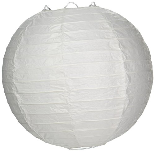 OOOUSE ais8EVP-WH-10 Round Paper Lantern (10 Pack), 8, White