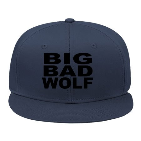 [Hot Newmale/female Big Bad Wolf Navy Adjustable Hip Hop Snapback Cap /hats Shawpier Cotton] (Big Bad Wolf Outfit)