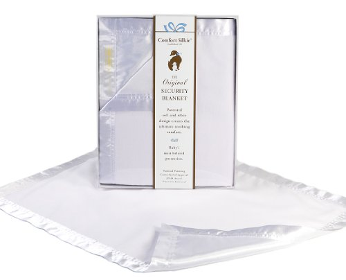 White COMFORT SILKIE Security Blanket ~ The Original. The Best. Award Winning.