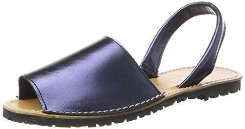 28916, Sandales Bride Arrière Femme, Bleu (Navy Metallic), 36 EUTamaris