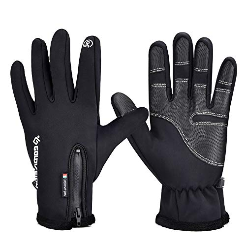 BASEIN Cycling Gloves, Waterproof All Fingers Touchscreen Winter Gloves, Sports Gloves for Running, Cycling - Men and Women