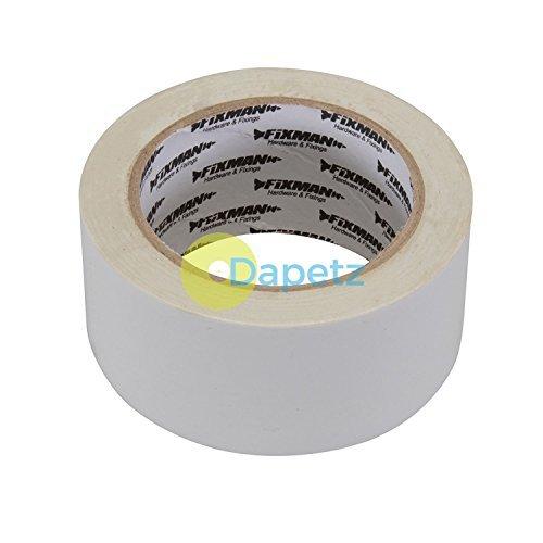 Dapetz ® Insulation Tape - 50mm X 33M White Electrical Rubber Glue On PVC Flame Retardant