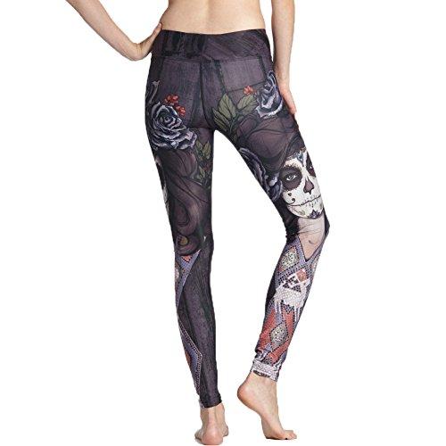 WintCO Coulants Imprimé Aigle Hancher Pantalons Legging pour Courir des Sports Pants Yoga Elastique Pantalons de Gymnastique Crayon Noir
