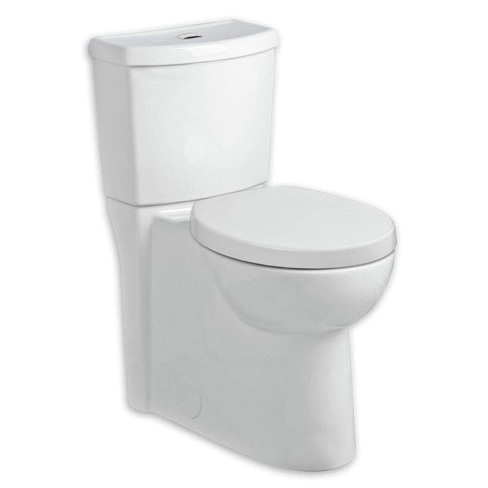 American Standard 2794.204.020 Studio Concealed Trapway Dual Flush Right Height Elongated Toilet, White