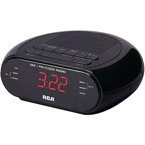 - RCA RC205 Dual Wake Alarm Clock Radio AM/FM W/Red LED Display Consumer electronics
