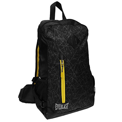 Everlast Unisex Lightweight Backpack Black/Yellow (Everlast Backpack)