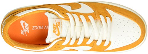 Nike Mens Sb Zoom Dunk Low Pro Circuito Arancione / Bianco Scarpa Da Skate