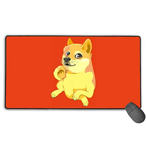 (GGlooking Gaming Mouse Mat Cute Dog Shiba Large Computer Pad Non-Slip Keyboard Desk Accessories,Office & School Supplies)