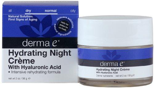 Derma E Hydrating Night Creme w Hyaluronic Acid, 2 oz 12 pack