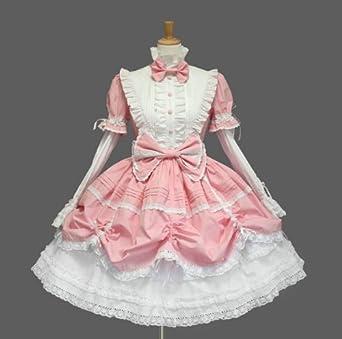 90b75bb52 ゴスロリィタ Lolita ロリータ服 衣装 洋服 COSMAMA LLTLZY0004 ピンクとホワイト 袖の取り外しが可能
