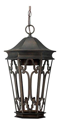 (Old Bronze Townsende 1 Light Outdoor Full Sized Lantern Pendant)