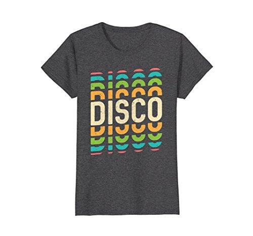 Womens Retro Disco Lover T-Shirt : Cool AF 1970s Groovy 70s Art Large Dark (1970s Disco Shirt)
