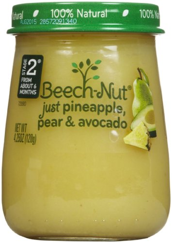 Stage 2 Pineapple Pear & Avocado (Pack of 10) by Beech-Nut