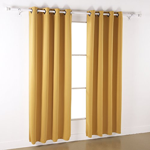 From Usa Deconovo Solid Color Grommet Blackout Curtains Grommet Top Window Coverings Thermal
