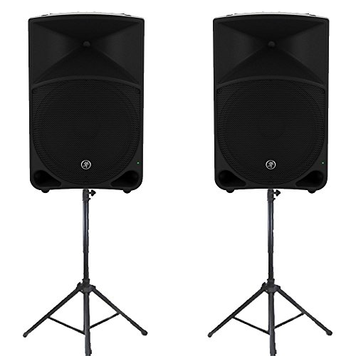 """Mackie Thump15 Powered 15"""" Loudspeakers and Stands Live Music DJ"""