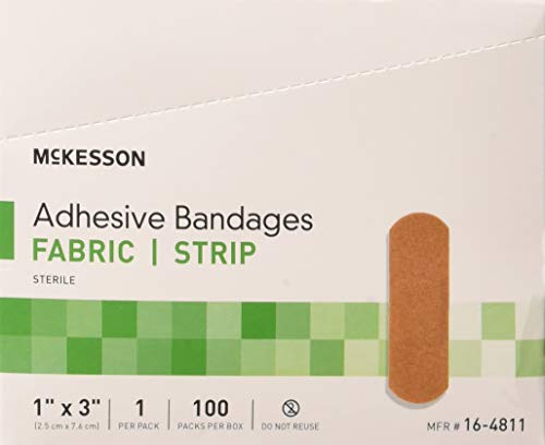 McKesson Performance Bandage Adhesive Fabric Strip, 100 Count (Pack of 2)...