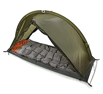 RhinoWolf Camping Tent for 2 Seasons with Sleeping Bag and Mattress – All-in-One