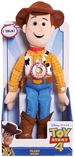 Toy Story 4 - Woody, Talking Plush - Re-Create The Movie Magic with Your Favourite Talking Toy Story Friends! (Plush Talking Woody Toy Story)