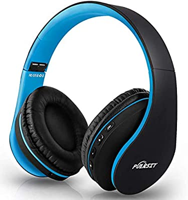 Puersit Auriculares Bluetooth de Diadema con Micrófono Cancelación Ruido Hi-Fi Estéreo Auriculares Inalámbricos Bluetooth Plegable para Tablet/TV/PC/Móviles: Amazon.es: Electrónica