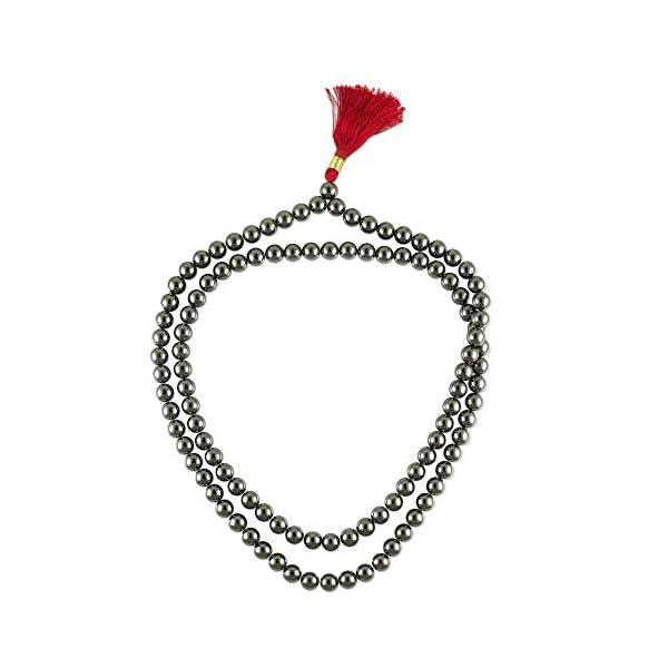NOVICA-Hematite-Jap-Mala-Prayer-Beads-with-Tassel-315-Pray-Hand-Made-in-India