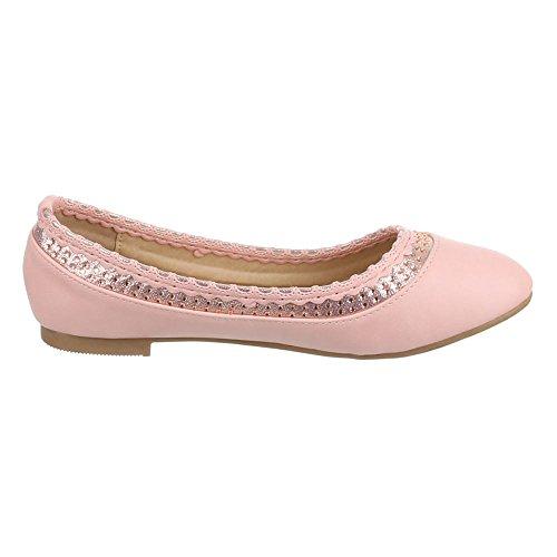 Design Ital Rosa Mujer rosa Bailarinas 0xgwxq1p