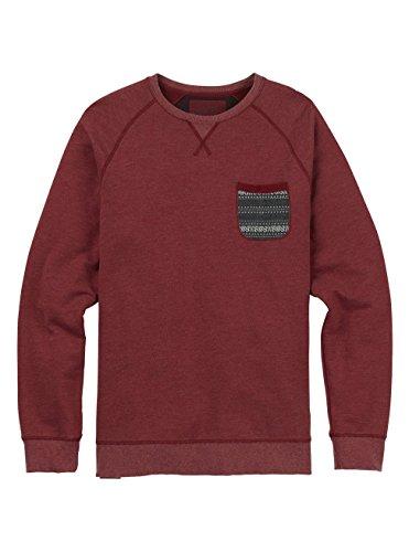 Burton Men's Subvert Crew Sweater, Wino, (Burton Print Sweatshirt)
