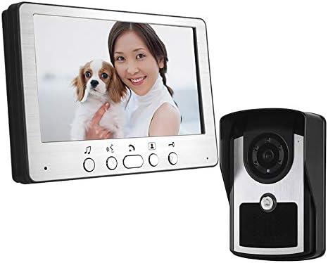 ビデオインターホンシステム、7インチビデオドアベルインターホンシステム、有線ビデオドアインターホンHDカメラキット、ヴィラのホームオフィスアパートメントでのロック解除、監視、双方向インターホンに使用