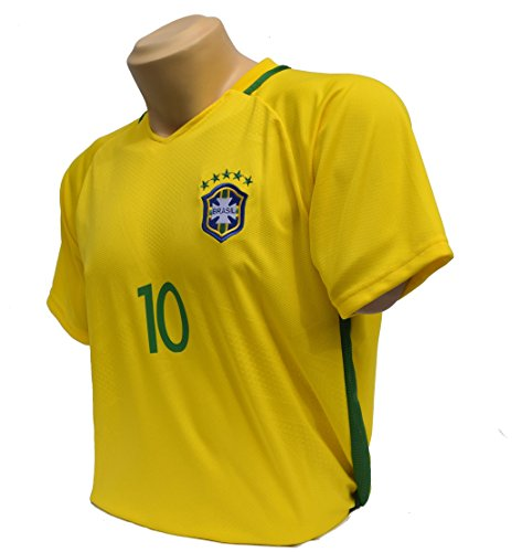Brasil Soccer Jerseys for 2018 Russia World Cup Size M(Medium) .Support Your Team During Soccer World Championship (Medium) - Exclusive Edition Ship Model