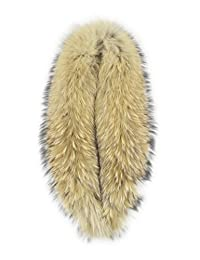 Real Genuine Raccoon Fur Winter Collar Scarves Scarf Wrap Neck Warmer (Hair Size:85cm)