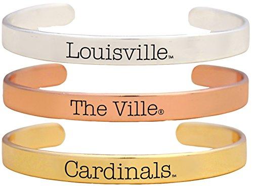 Sports Accessory Store Louisville Cardinals The Ville Tri Tone Bangle Bracelet Set of 3